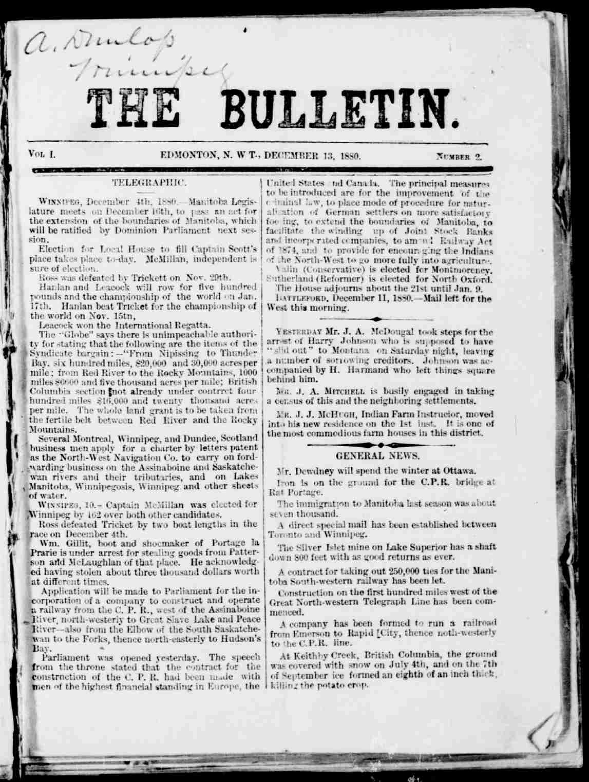 The Edmonton Bulletin