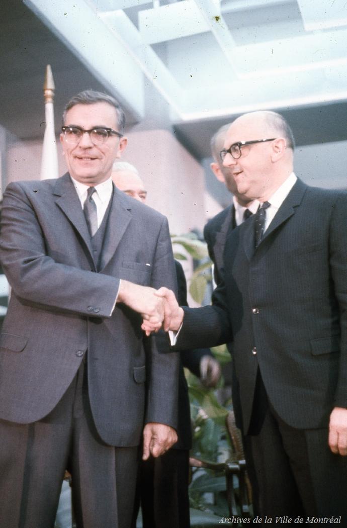 Lucien Saulnier et Jean Drapeau, 1966