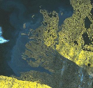 Mackenzie Delta, Satellite Image