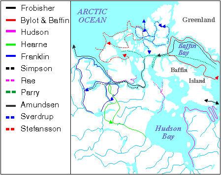 Arctic Exploration, Map
