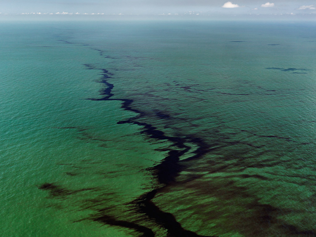 Oil Spill #10, Oil Slick at Rip Tide, Gulf of Mexico, June 24