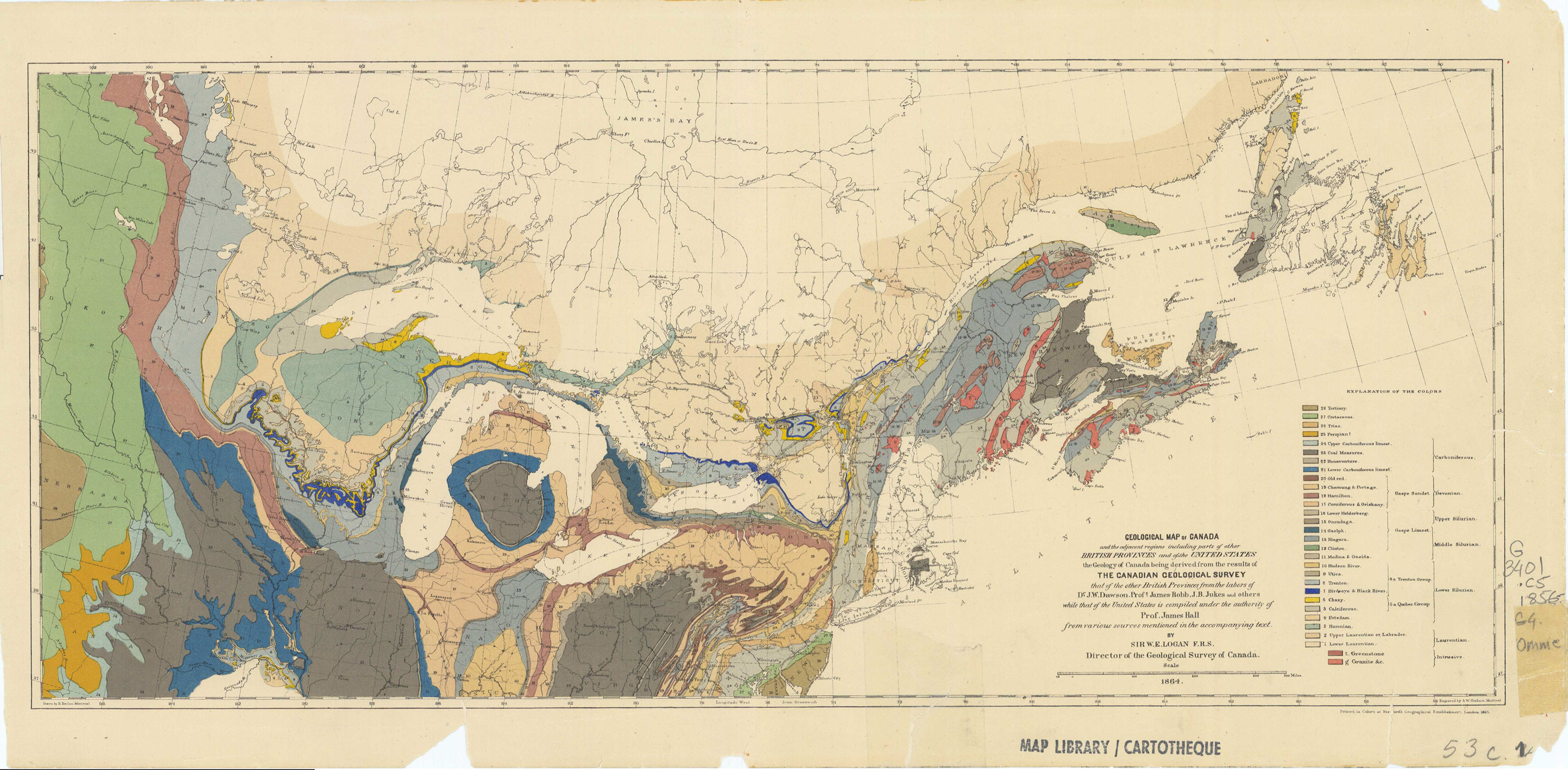 First Geological Map of Canada