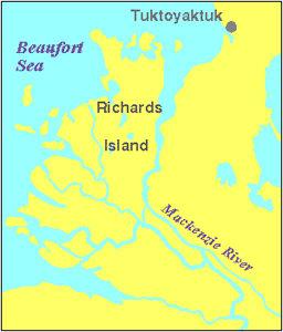 Mackenzie, carte du delta du