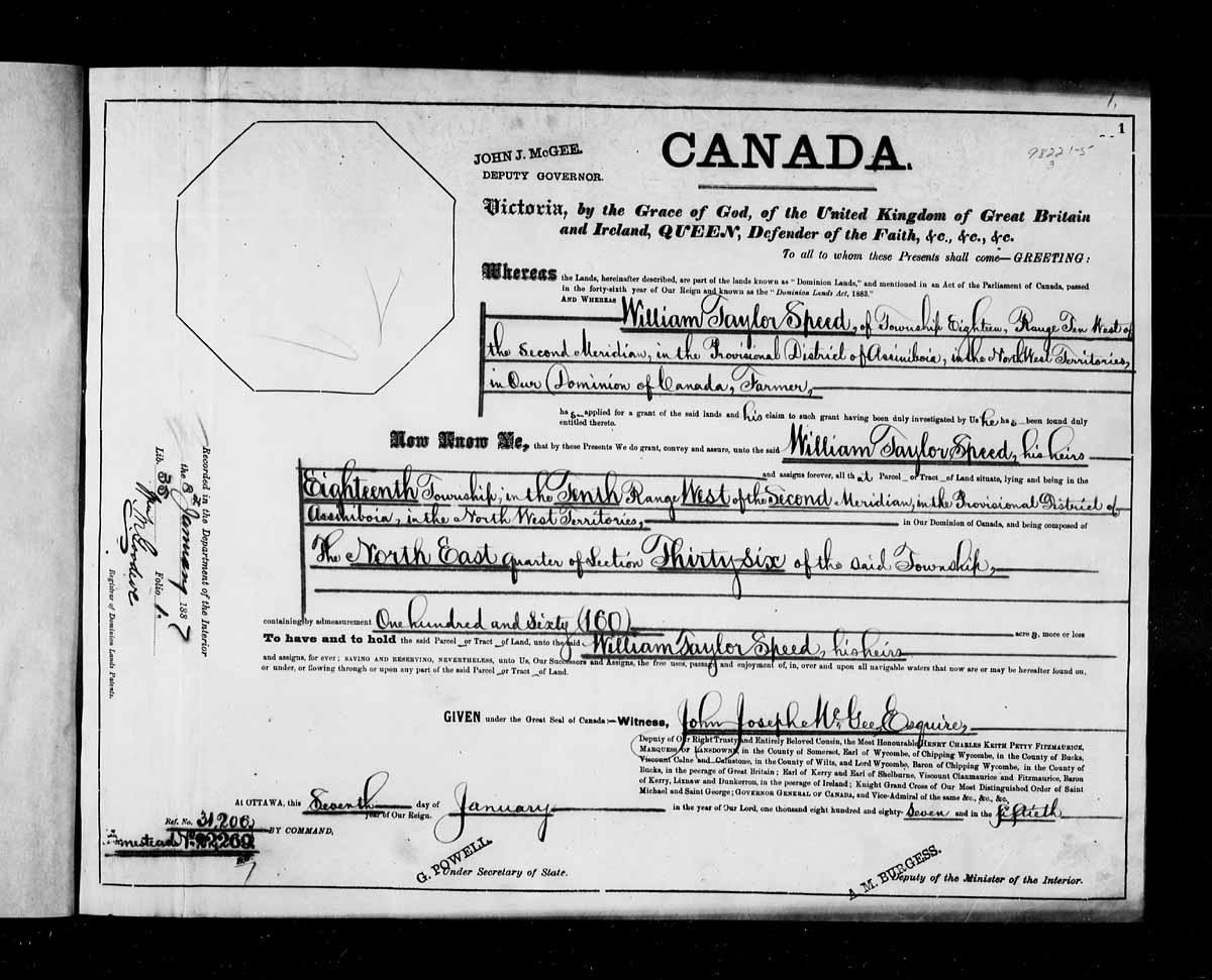 Lettre patente, 1887