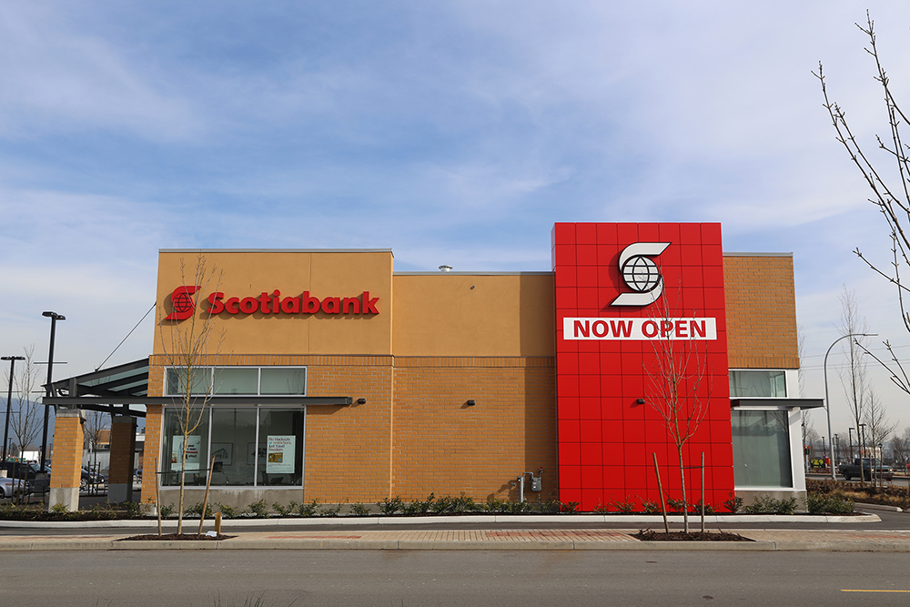 A Scotiabank location in Port Coquitlam, British Columbia