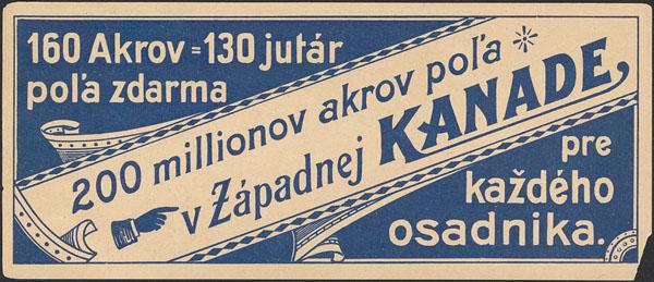 North Atlantic Trading Company advertising card (slovak)