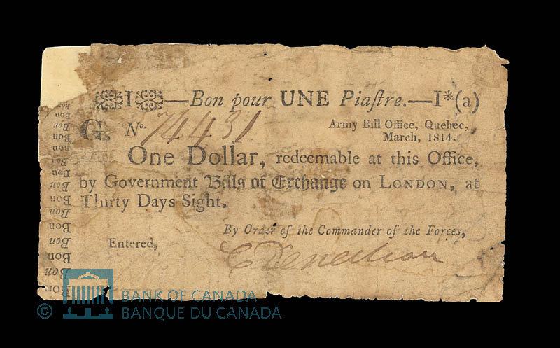 Army Bill Office 1 Dollar Bill
