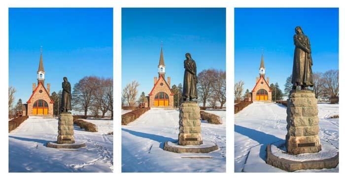 Evangeline statue at Grand Pré National Historic Site, Nova Scotia.