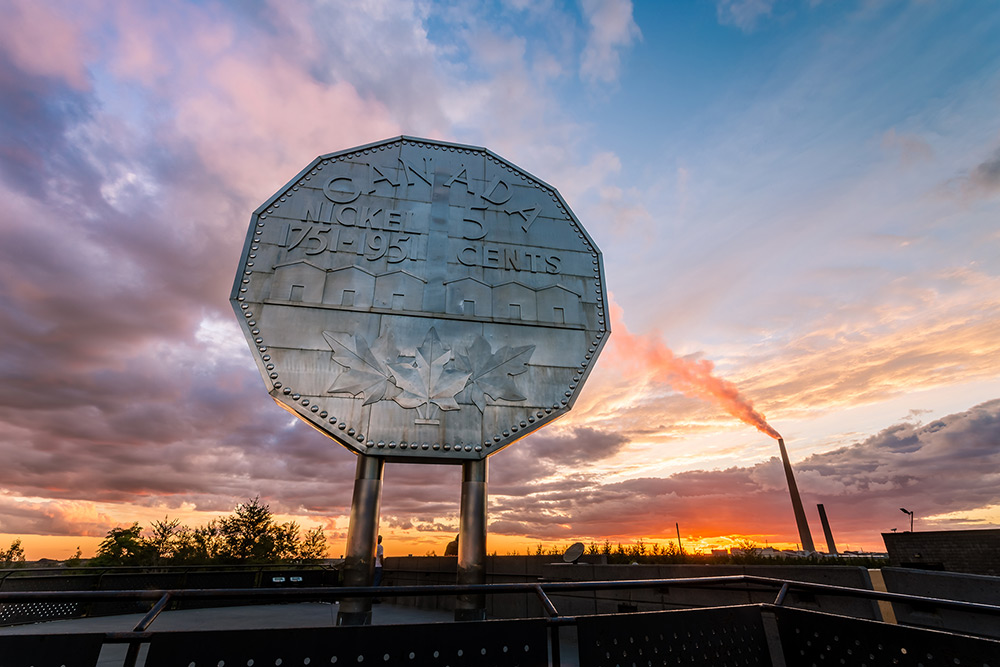 Big Nickel in Sudbury, Ontario.