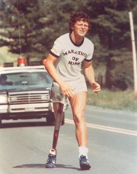 Terry Fox, philanthropist and marathon runner
