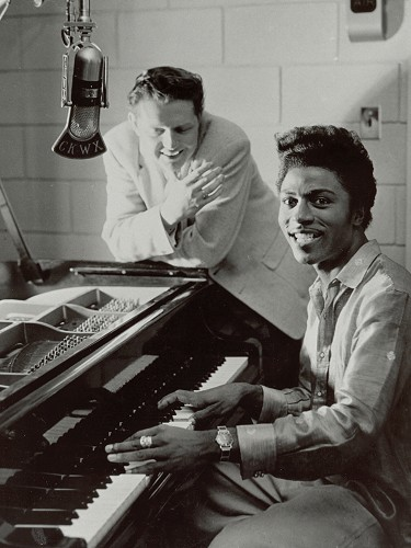 Red Robinson and Little Richard, 1957.