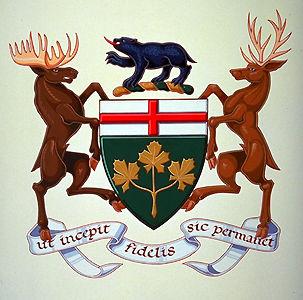 Ontario, armoiries de l
