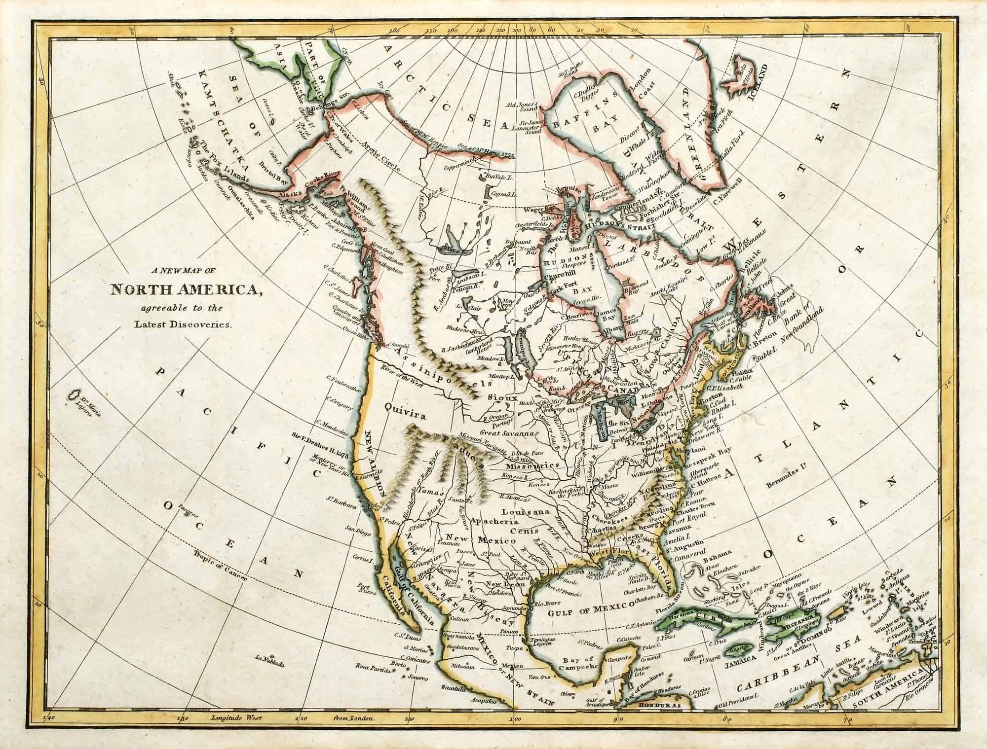 1791 Map of North America