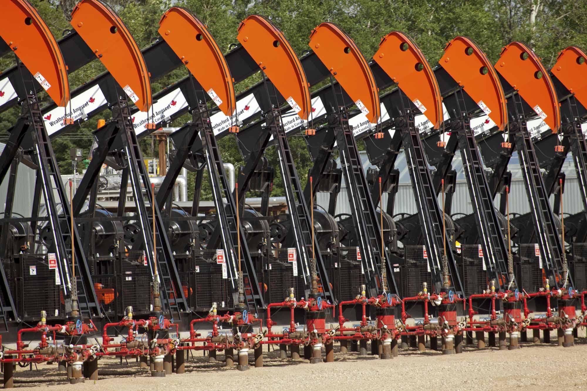 Oil pumps in Alberta