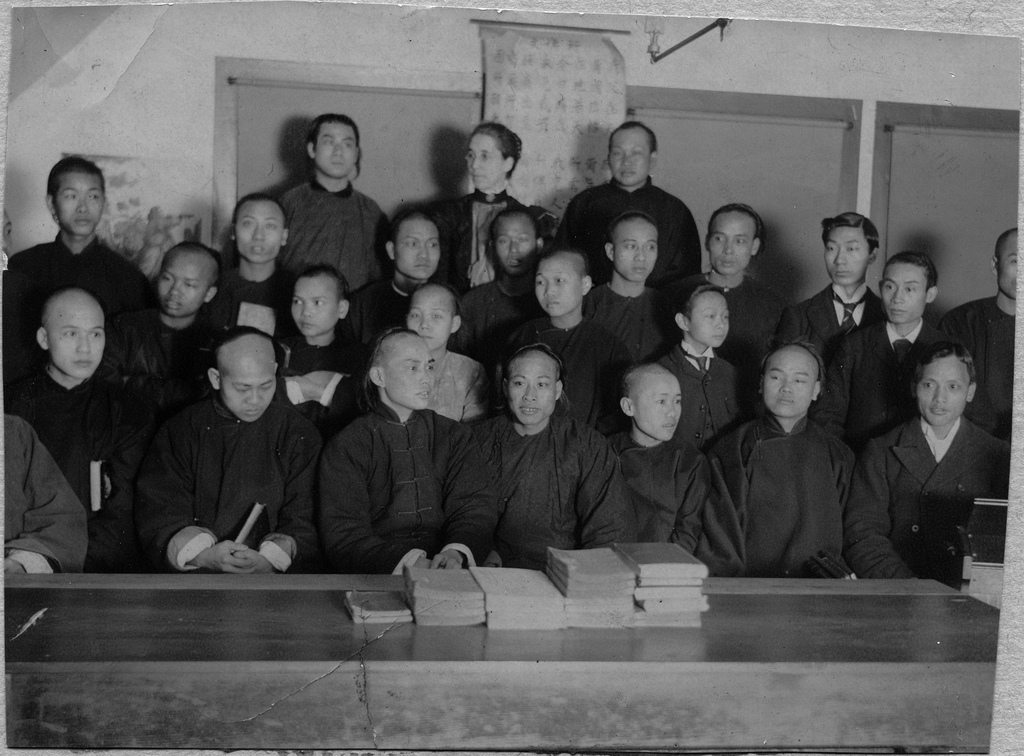 Chinese Canadians at the Mission School in Vancouver, B.C. in 1898.