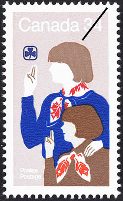 Girl Guides postage stamp