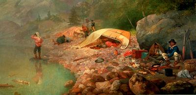 \u00ab Voyageurs at dawn \u00bb