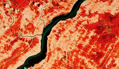 Seigneurial System, Satellite Image