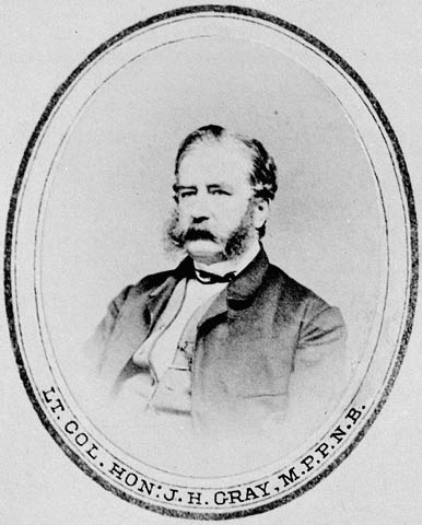 John Hamilton Gray, New Brunswick