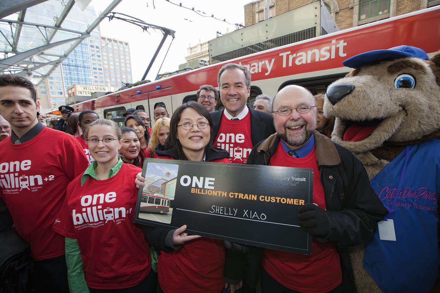 One billionth CTrain Customer