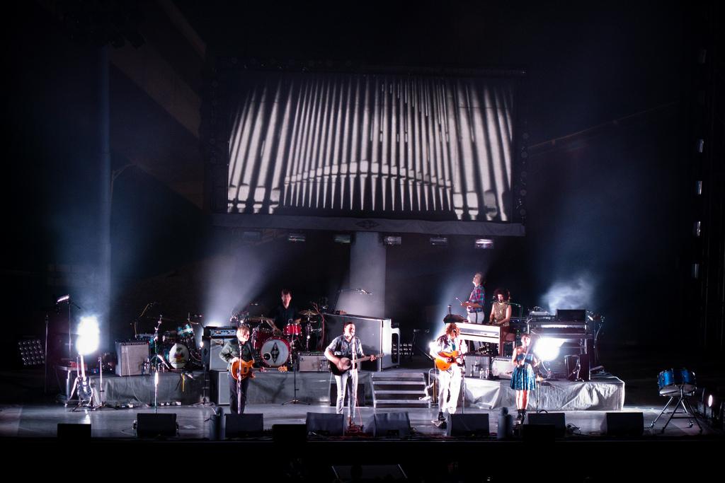 Arcade Fire performing in Berkley, CA. in 2010.