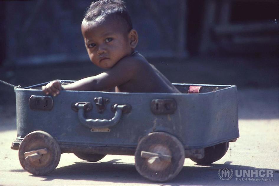 Refugee from Laos, Ubon, Thailand, 1983