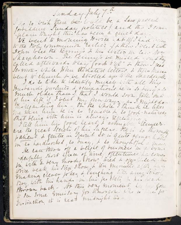 Journal de Lady Macdonald, 5-6 juillet 1867