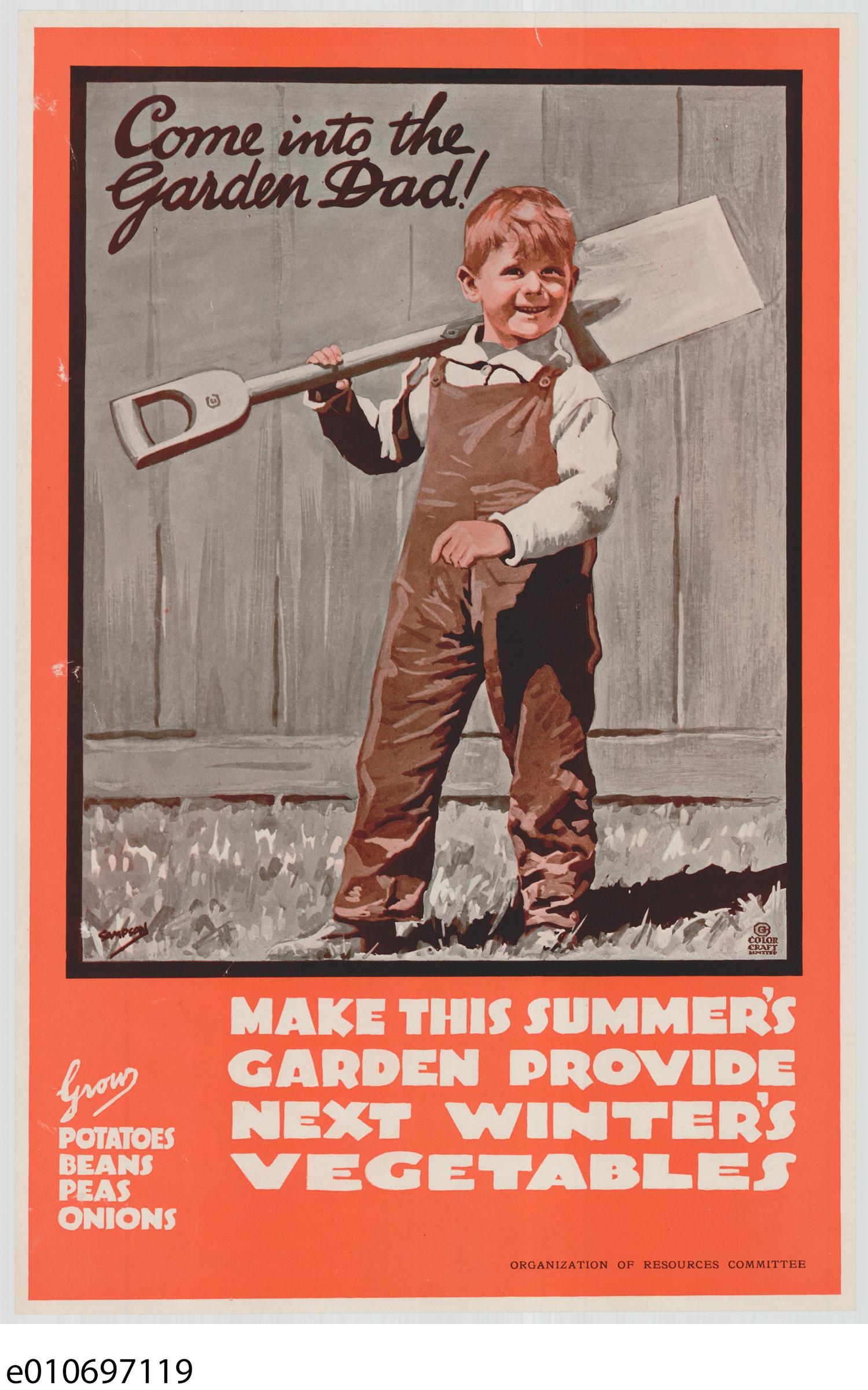 Affiche pour promouvoir les jardins de la Victoire