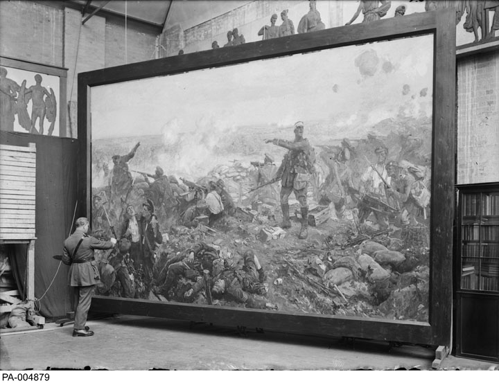 """Richard Jack painting """"The Second Battle of Ypres""""."""
