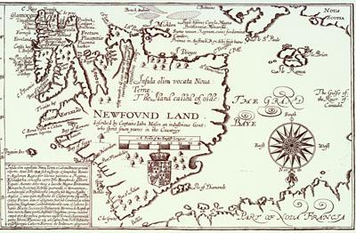 John Mason's Map of Newfoundland, 1625