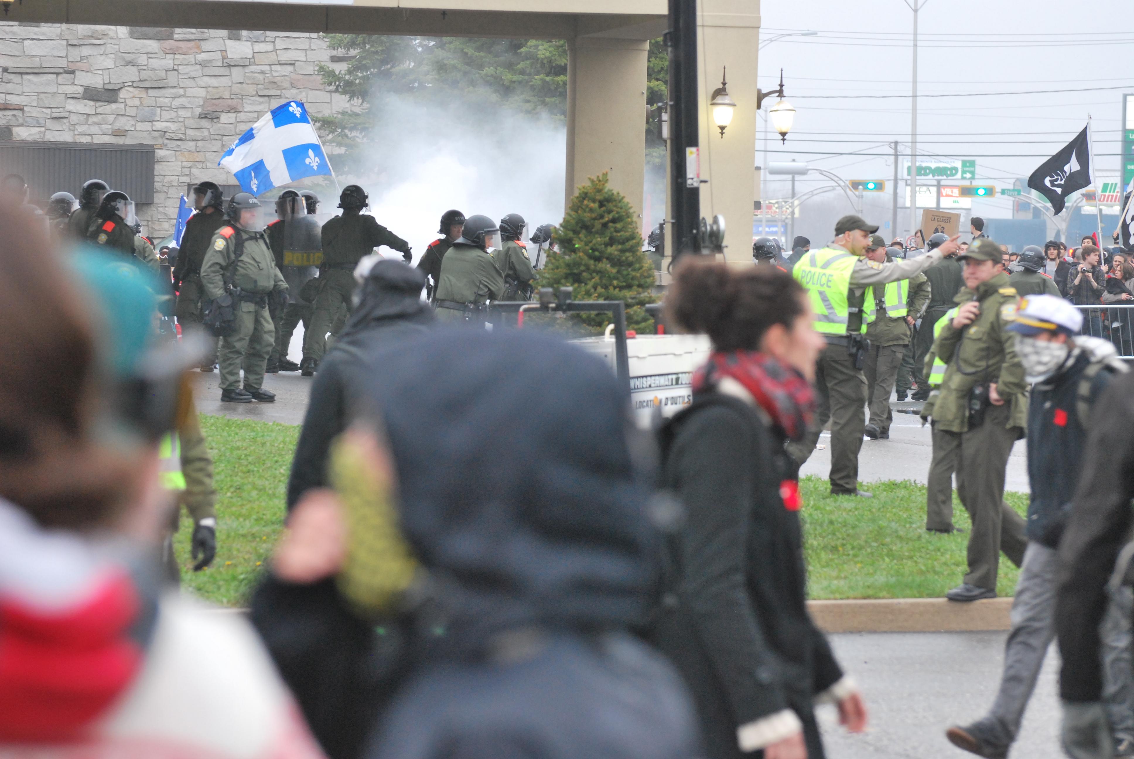 Manifestation à Victoriaville