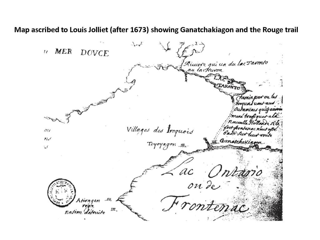 17th-century Rouge Trail map