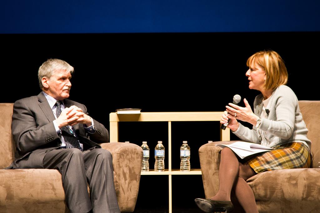 Roméo Dallaire and Heather Reisman