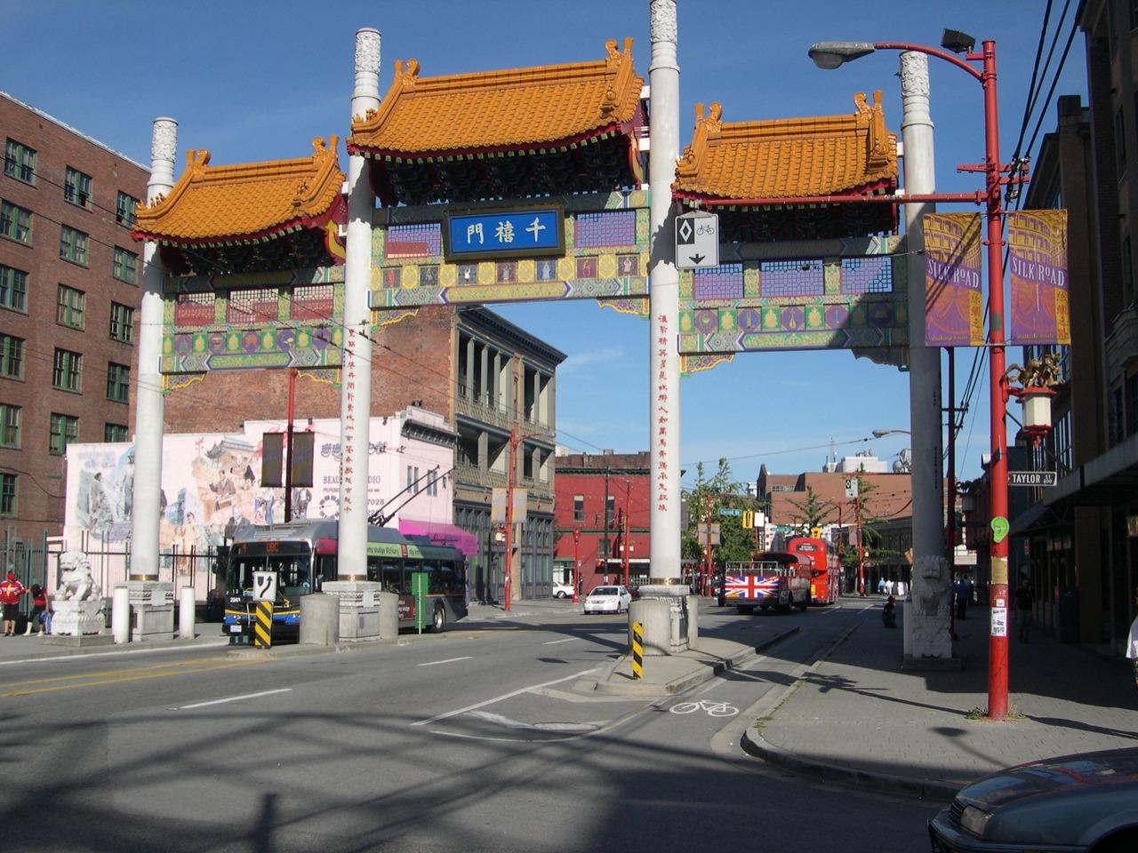 Porte Millennium Gate du quartier chinois de Vancouver, 2007.
