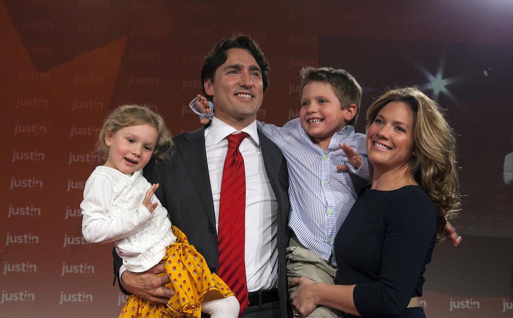 Justin Trudeau et sa famille (2013)