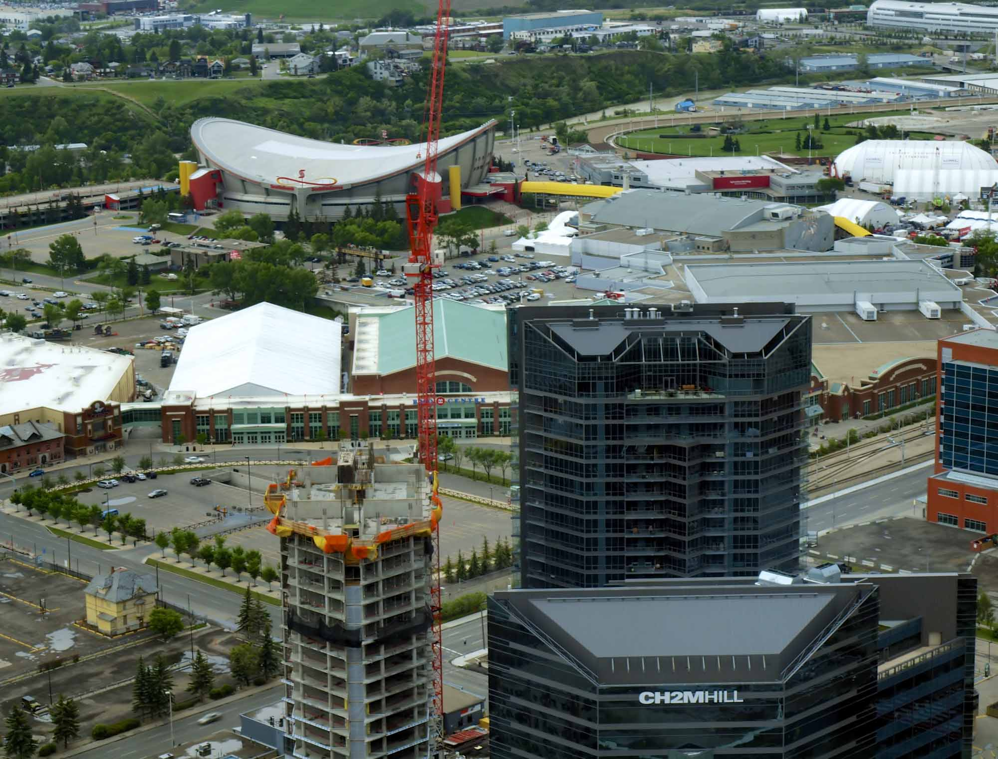 Aerial view of Calgary Stampede Grounds