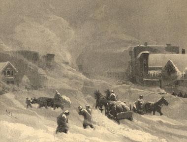 Blizzard in Winnipeg, 1882