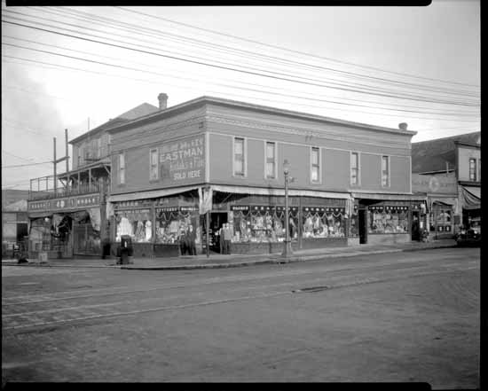 Powell Street, east of Main St., in Japantown, Vancouver, 1928.