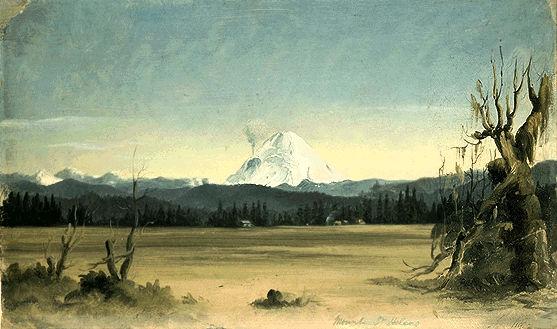 Mount St Helen's Erupting