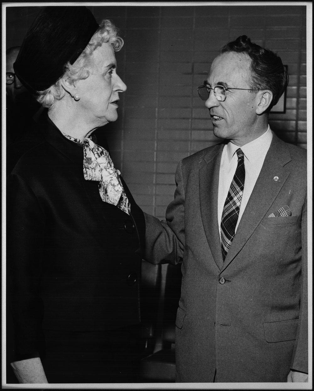 Thérèse Casgrain and Tommy Douglas, 1955