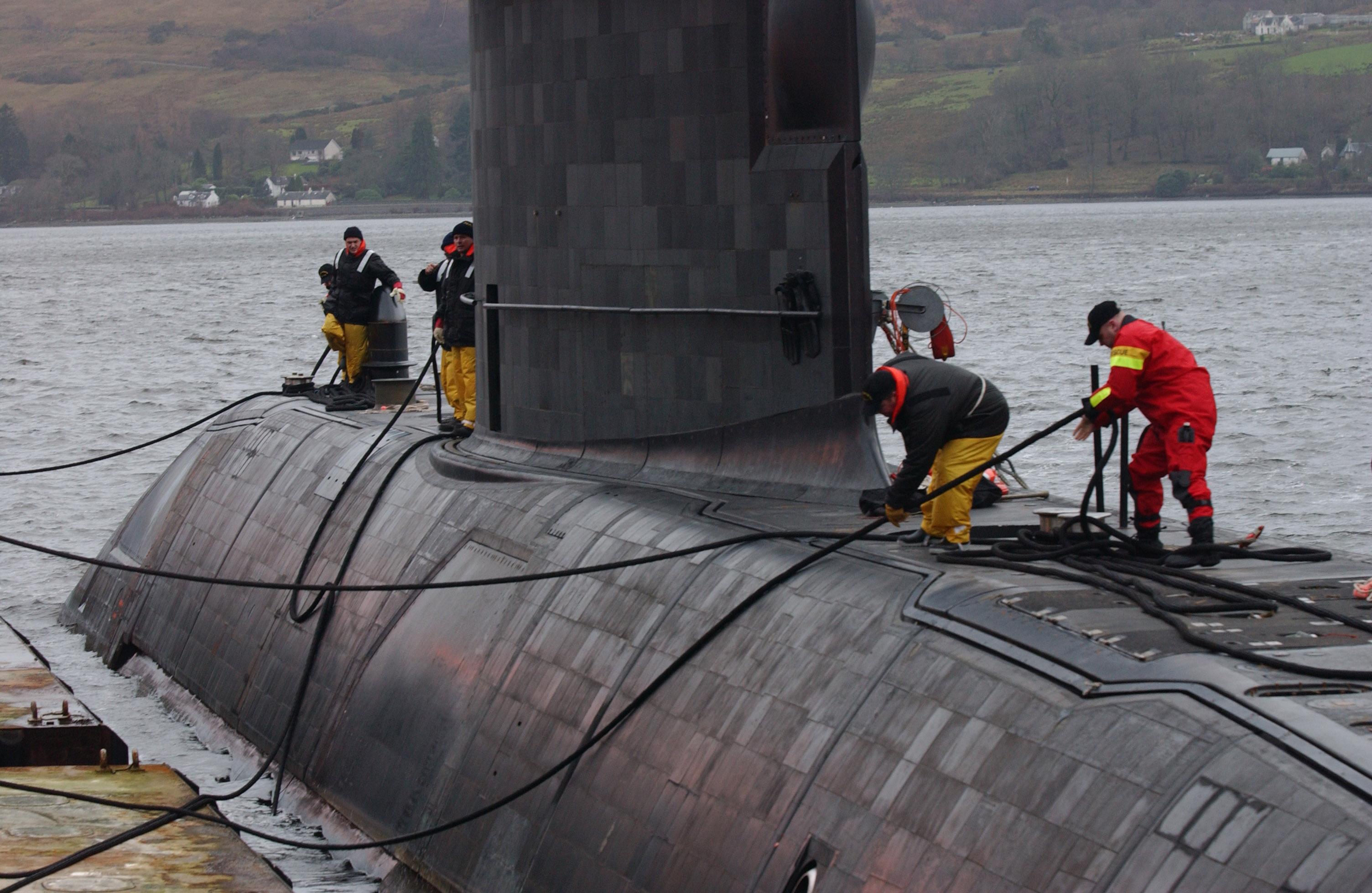 Crew members of HMCS Chicoutimi