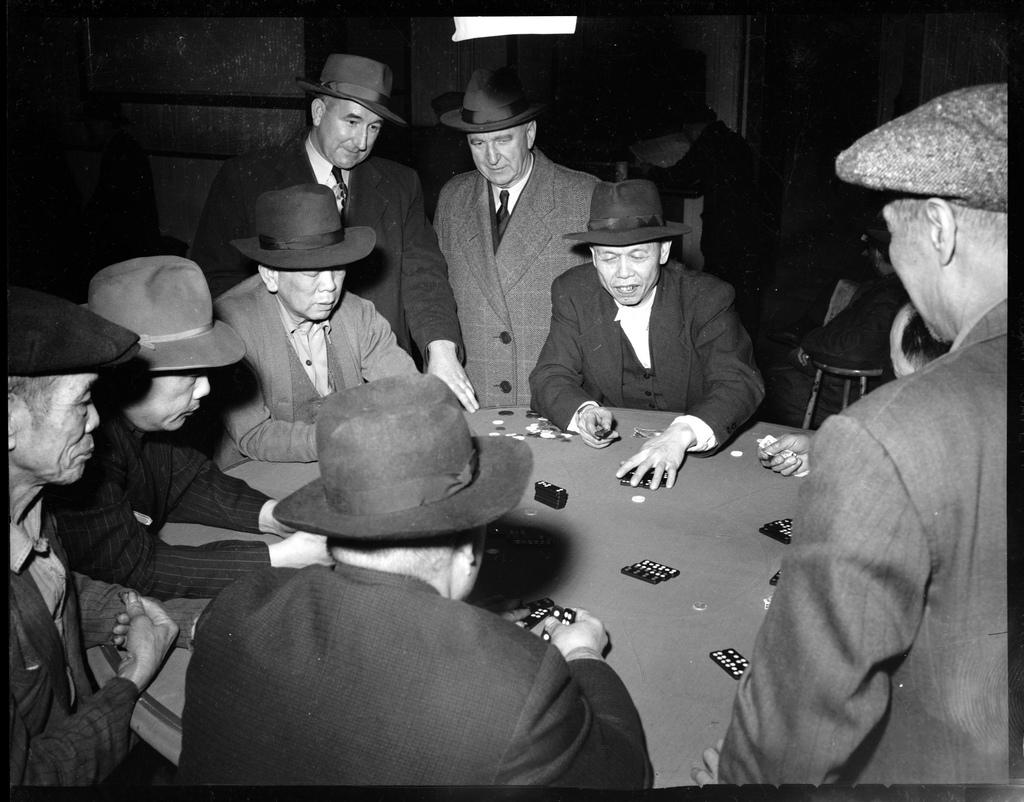 Gambling in Vancouver, B.C., 1950.