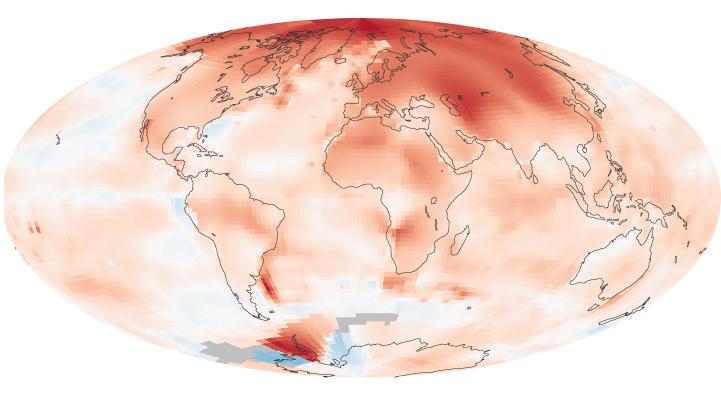 Température du globe : de 2000 à 2009