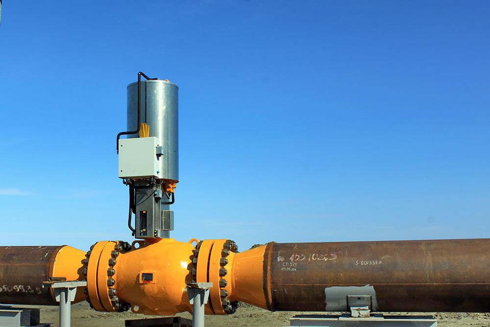 Vanne d'un pipeline gazier