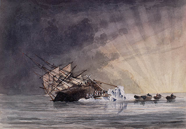 Sketch of the H.M.S. Terror at Sunrise July 14, 1837