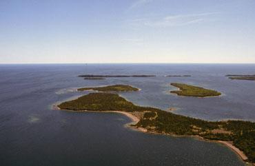 Lac Supérieur, vue aérienne