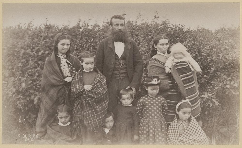 Unidentified Métis Family, Probably at Osnaburgh House, Ontario