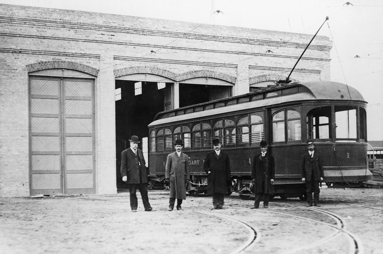 First streetcar, Calgary, Alberta
