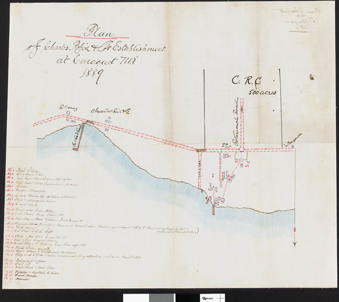 Plan des installations de la Charles Robin & Co