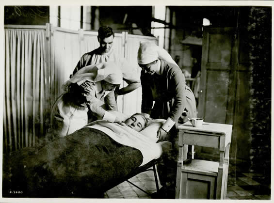 A 17 year old, underage Canadian soldier who was wounded 15 minutes before the Armistice on 11 November, 1918.